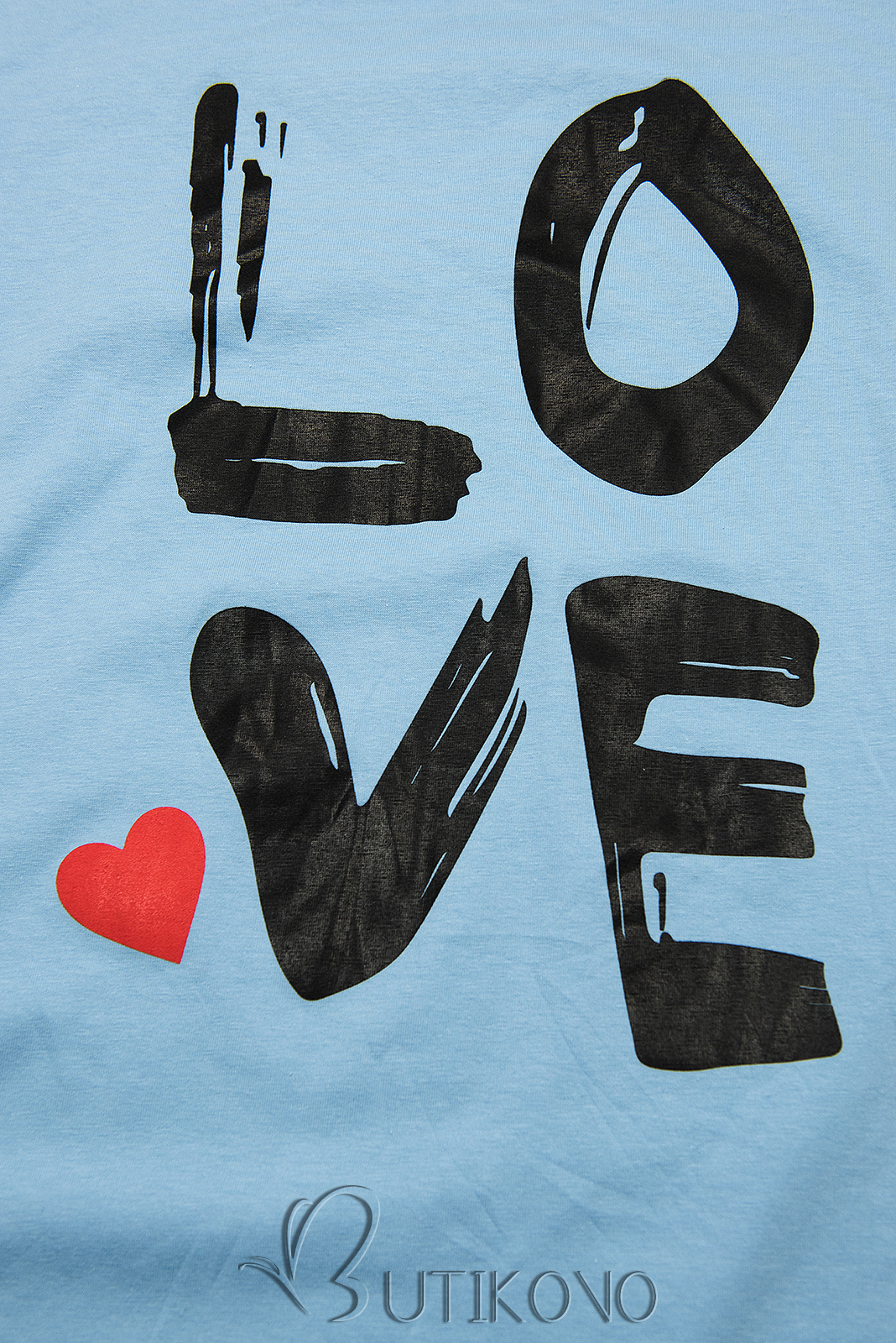 Tunika s potiskem LOVE modrá