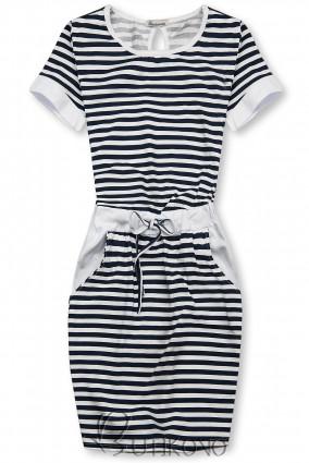 Modro-bílé pruhované šaty II.