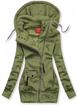 Zelená mikina na zip