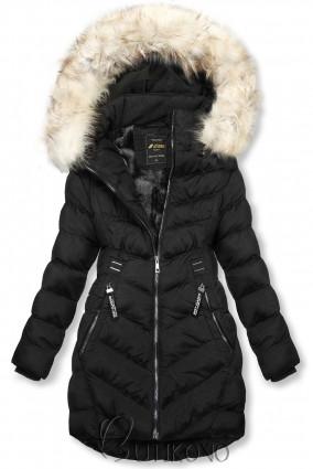 Černá zimní bunda s odnímatelnou kapucí