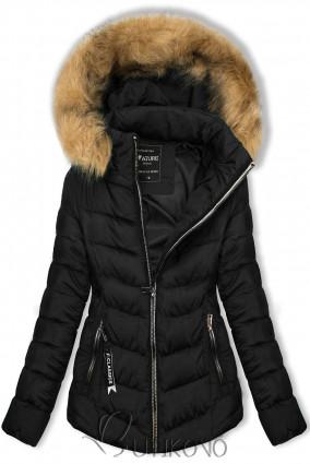 Černá bunda na období podzim/zima