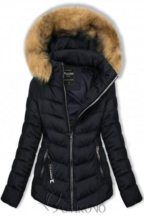Tmavě modrá bunda na období podzim/zima
