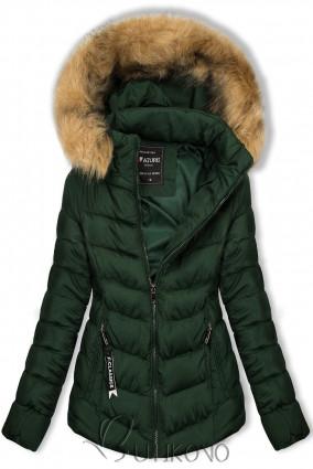Tmavě zelená bunda na období podzim/zima