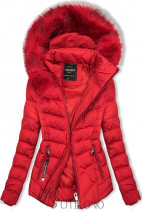 Červená bunda na období podzim/zima