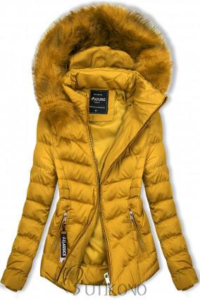 Hořčicově žlutá bunda na období podzim/zima