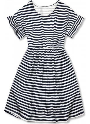 Modro-bílé volné pruhované šaty II.