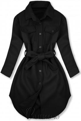 Černý lehký plášť