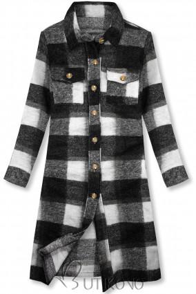 Černo-bílá košilová bunda